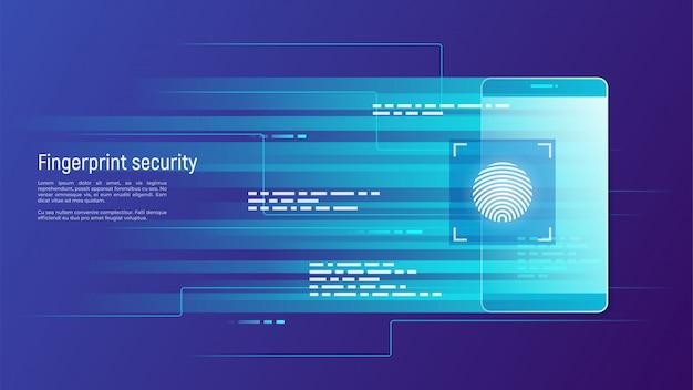 Sicurezza delle impronte digitali, controllo degli accessi, autorizzazione