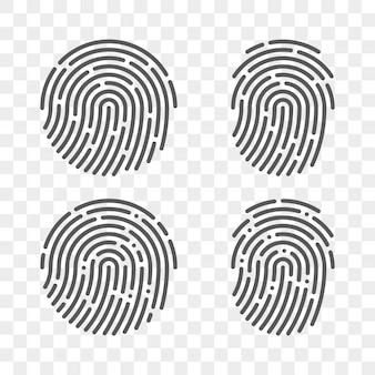 Set di impronte digitali