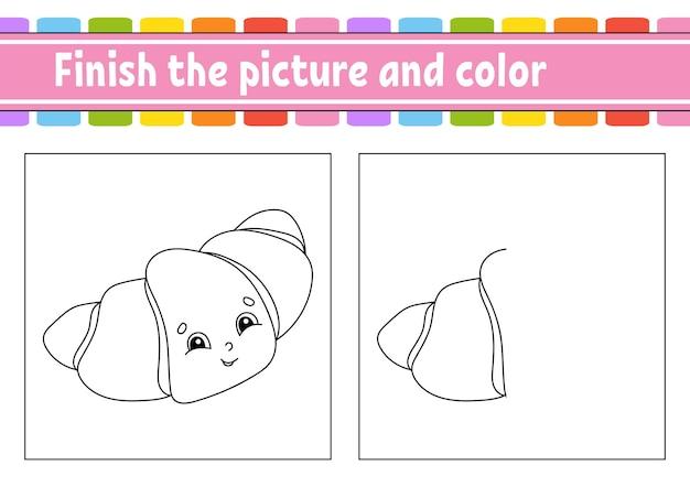 Finisci l'immagine e colora il foglio di lavoro dell'attività