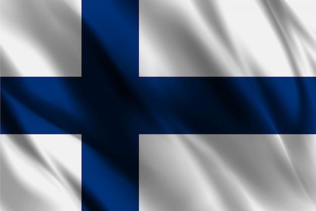 Bandiera della finlandia che ondeggia fondo astratto