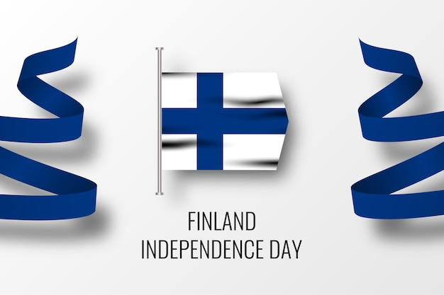 Finlandia independence day celebration illustration template design