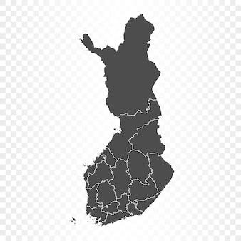 Mappa della finlandia isolata su trasparente