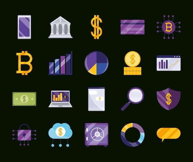 Icone del business fintech