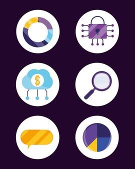 Set di icone fintech