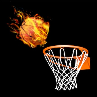 Fuoco basket con cesto reale