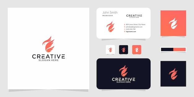 Il design grafico del logo dell'uccello di fuoco per altri usi è molto adatto per l'uso