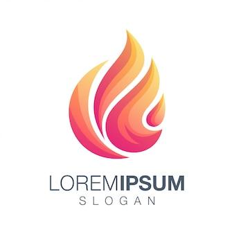 Logo color fuoco Vettore Premium