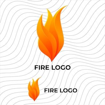 Modello di progettazione del logo fire flame adatto per l'industria antincendio o per eventi legati al fuoco