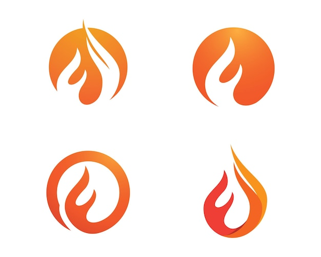 Icona di vettore del modello di logo della fiamma del fuoco concetto di logo di petrolio, gas ed energia