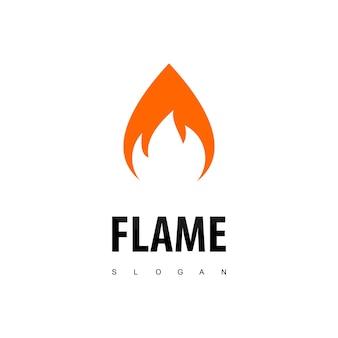 Logo della fiamma del fuoco