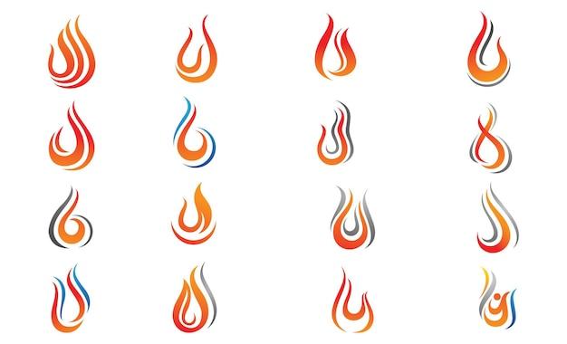 Modello di progettazione dell'illustrazione di vettore della fiamma del fuoco