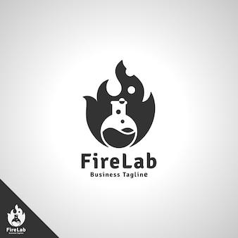 Modello di logo del laboratorio di fuoco