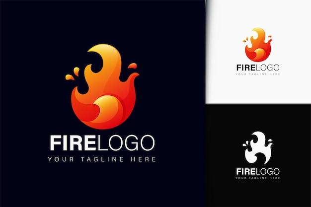 Design del logo del fuoco con gradiente