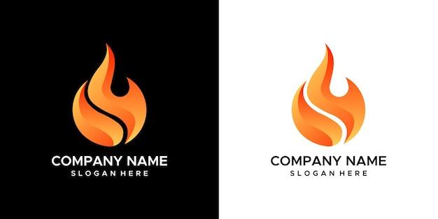 Design del logo del fuoco