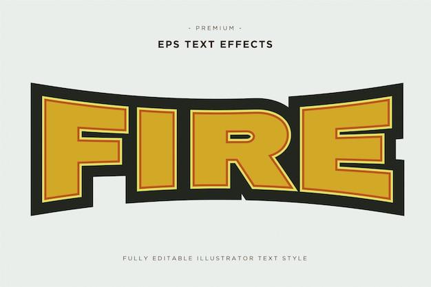 Mascotte di fuoco 3e effetto testo