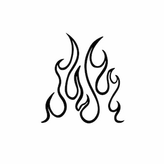 Simbolo del fuoco logo tattoo design vector illustration