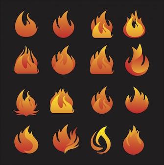 Simboli di fuoco dei quattro elementi