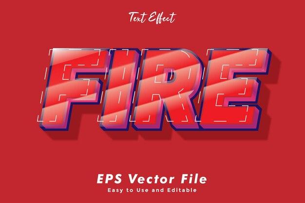 Effetto testo fuoco modificabile e facile da usare effetto tipografico
