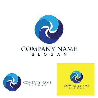 Immagine vettoriale del logo e del simbolo del vortice della palla di fuoco