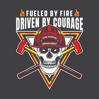 Emblema del cranio del pompiere