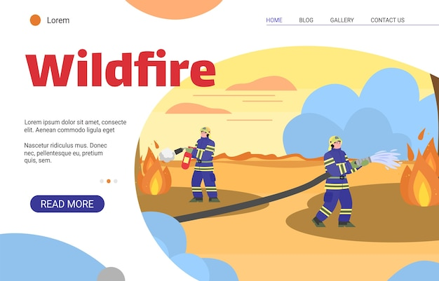 Vigili del fuoco che estinguono un incendio violento con acqua ed estintore