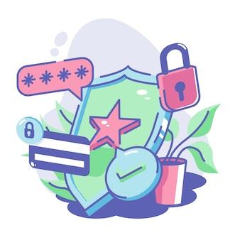 Guardiano antivirus firewall per proteggere il tuo file