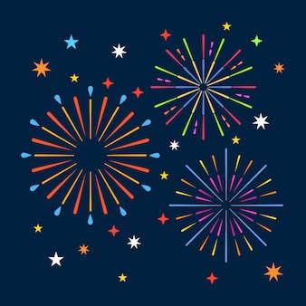 Fuochi d'artificio sullo sfondo di notte