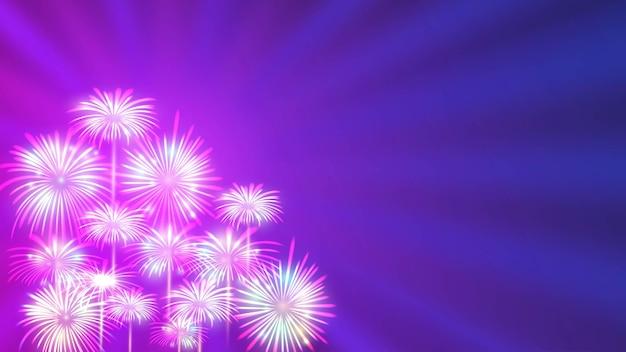 Sfondo di fuochi d'artificio per la celebrazione del felice anno nuovo