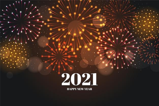 Fuochi d'artificio nuovo anno 2021 sfondo