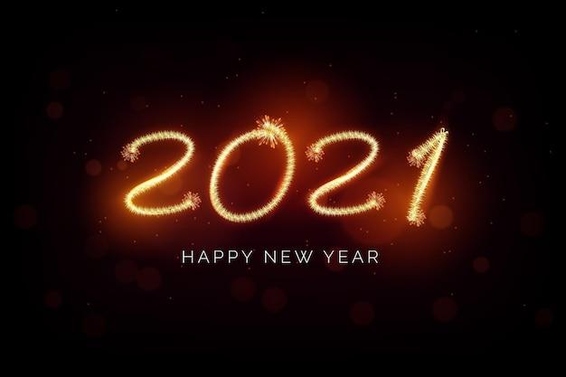 Sfondo di fuochi d'artificio nuovo anno 2021