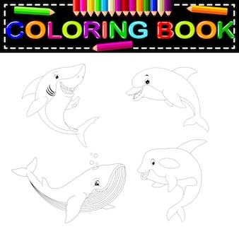 Libro da colorare di pesce