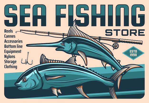Pesce, canna e amo da pescatore, pesca sportiva
