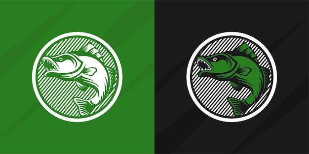Pesce logo design isolato vettore premium