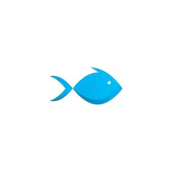 Vettore di disegno dell'icona del logo di pesce
