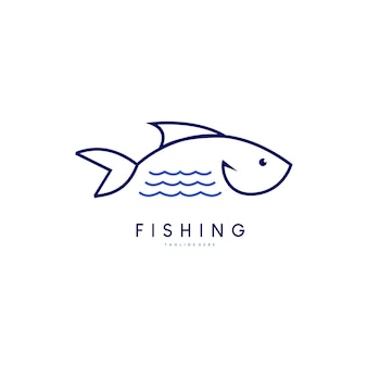Modello dell'icona di logo di pesce