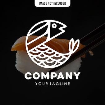 Modello del logo dei pesci