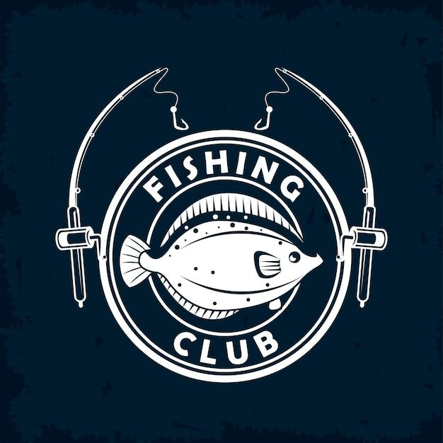 Sigillo di pesci e canne