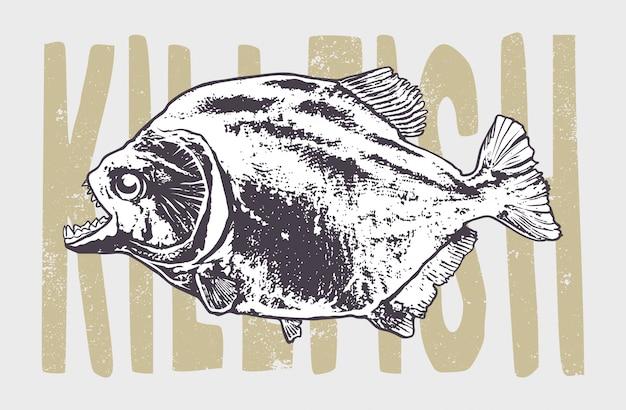 Arte vintage di pesce