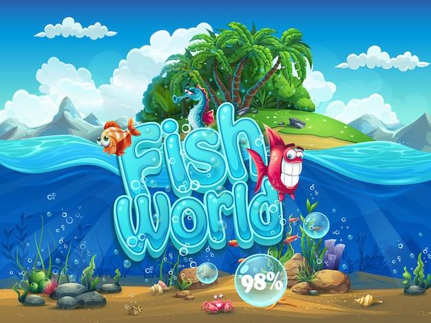 Fish world - schermata di avvio dell'illustrazione