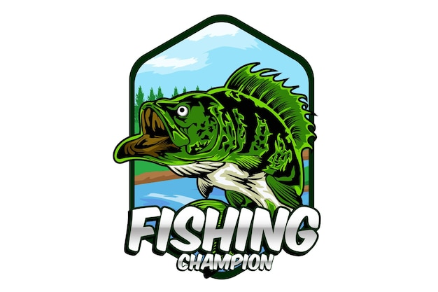 Disegno dell'illustrazione del campione di pesca