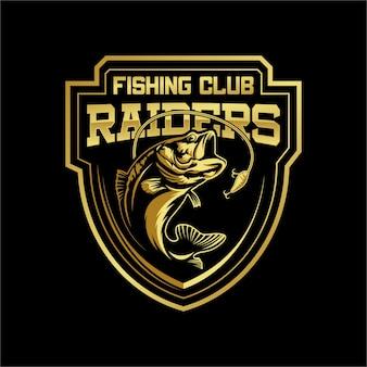 Mascot di logo del club di pesca