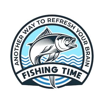 Illustrazione di pesca con gancio e lacci sciolti adatti per la stampa di loghi e t-shirt