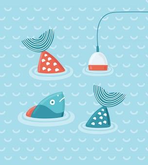 Illustrazione di pesca