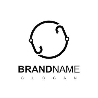 Ispirazione per il design del logo di pesca