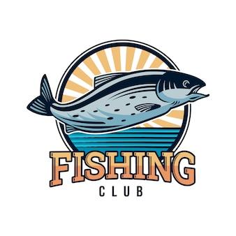 Design della logo della pesca