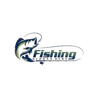 Modello di logo di pesca