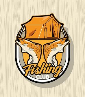 Toppa da pesca in stile retrò