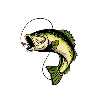Illustrazione vettoriale di pesca premium