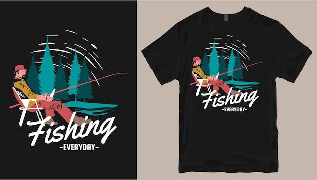 Design t-shirt da pesca.