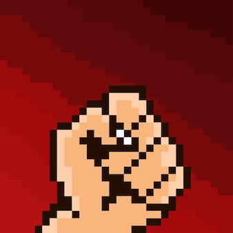 Un pugno con stile pixel art